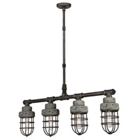 Loft 4 Light 32 inch Slate/Grey Island Light Ceiling Light