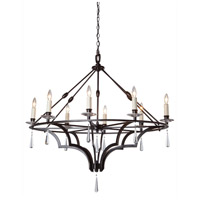 Artcraft Lighting Balmoral 8 Light Chandelier in Dark Brown AC1068