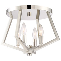 Breezy Point 4 Light 16 inch Polished Nickel Flush Mount Ceiling Light