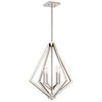 Artcraft AC10684PN Breezy Point 4 Light 20 inch Polished Nickel Chandelier Ceiling Light