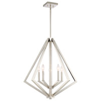 Breezy Point 5 Light 25 inch Polished Nickel Chandelier Ceiling Light