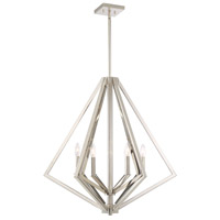 Artcraft AC10686PN Breezy Point 6 Light 30 inch Polished Nickel Chandelier Ceiling Light