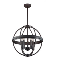 Roxbury 5 Light 20 inch Oil Rubbed Bronze Chandelier Ceiling Light