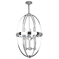 Artcraft AC10696CH Roxbury 6 Light 20 inch Chrome Chandelier Ceiling Light