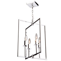 Allston 4 Light 15 inch Chrome Chandelier Ceiling Light