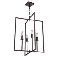 Allston 4 Light 20 inch Oil Rubbed Bronze Chandelier Ceiling Light