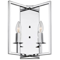 Allston 2 Light 10 inch Chrome Wall Sconce Wall Light