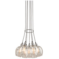 Clearwater 7 Light 18 inch Polish Nickel and Black Chandelier Ceiling Light in Polished Nickel