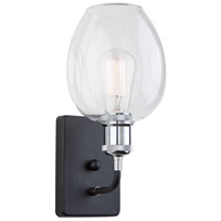 Artcraft AC10738PN Clearwater 1 Light 6 inch Polish Nickel and Black Wall Sconce Wall Light in Polished Nickel