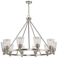Clarence 10 Light 42 inch Brushed Nickel Chandelier Ceiling Light