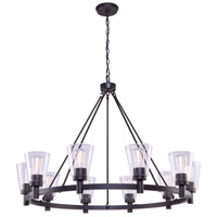 Clarence 10 Light 42 inch Oil Rubbed Bronze Chandelier Ceiling Light