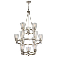 Clarence 12 Light 29 inch Brushed Nickel Chandelier Ceiling Light