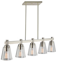 Clarence 5 Light 43 inch Brushed Nickel Island Light Ceiling Light