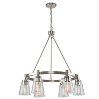 Clarence 6 Light 28 inch Brushed Nickel Chandelier Ceiling Light