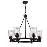 Clarence 6 Light 28 inch Oil Rubbed Bronze Chandelier Ceiling Light