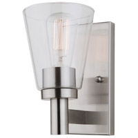 Clarence 1 Light 5 inch Brushed Nickel Wall Sconce Wall Light