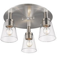 Clarence 3 Light 17 inch Brushed Nickel Flush Mount Ceiling Light