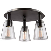 Clarence 3 Light 17 inch Oil Rubbed Bronze Flush Mount Ceiling Light