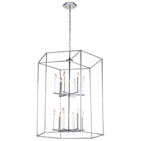 Modern Elegance 12 Light 32 inch Chrome Chandelier Ceiling Light