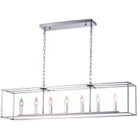Modern Elegance 7 Light 8 inch Chrome Chandelier Ceiling Light