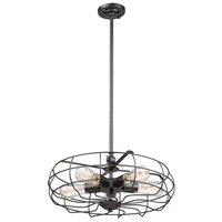 Windswept 5 Light 18 inch Black Chandelier Ceiling Light
