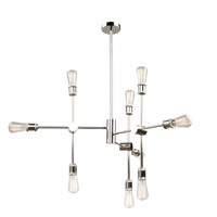 Tribeca 9 Light 35 inch Polished Nickel Chandelier Ceiling Light