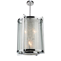 Crackled Ice 4 Light 13 inch Chrome Chandelier Ceiling Light