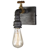 American Industrial 1 Light 7 inch Iron and Brass Wall Sconce Wall Light