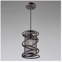 ARTCRAFT Rebar Studio 1 Light Pendant in Java Brown AC10820JV