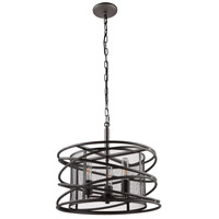 Artcraft AC10821JV Rebar Studio 3 Light 18 inch Java Brown Chandelier Ceiling Light