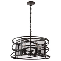 Rebar Studio 5 Light 22 inch Java Brown Chandelier Ceiling Light