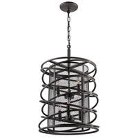 Artcraft AC10823JV Rebar Studio 6 Light 15 inch Java Brown Chandelier Ceiling Light