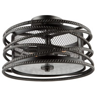 Rebar Studio 2 Light 15 inch Dark Java Brown Flush Mount Ceiling Light