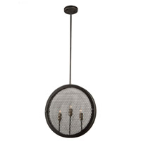 Artcraft AC10831GB Riverside 3 Light 3 inch Granite Black and Vintage Brass Pendant Ceiling Light photo thumbnail