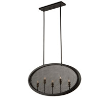 Riverside 5 Light 4 inch Granite Black Pendant Ceiling Light