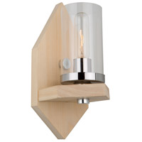 Canyon Creek 1 Light 6 inch Natural Light Wood/Chrome Wall Bracket Wall Light
