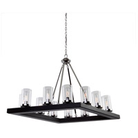 Canyon Creek 12 Light 25 inch Dark Wood/Chrome Chandelier Ceiling Light