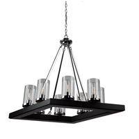 Canyon Creek 8 Light 20 inch Dark Wood/Chrome Chandelier Ceiling Light