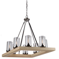Canyon Creek 7 Light 49 inch Dark Wood/Chrome Island Light Ceiling Light