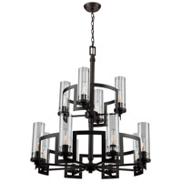 Palazzo Vecchio 12 Light 32 inch Java Brown Chandelier Ceiling Light