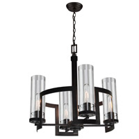 Palazzo Vecchio 4 Light 19 inch Java Brown Chandelier Ceiling Light