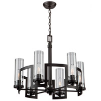 Palazzo Vecchio 6 Light 24 inch Java Brown Chandelier Ceiling Light