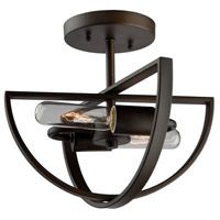 Newport 2 Light 12 inch Oil Rubbed Bronze Semi Flush Mount Ceiling Light