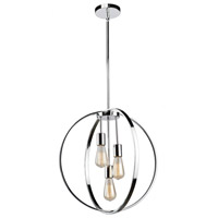 Newport 3 Light 19 inch Chrome Chandelier Ceiling Light