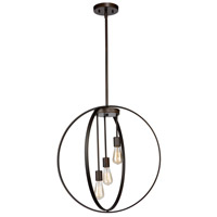 Newport 3 Light 19 inch Oil Rubbed Bronze Chandelier Ceiling Light