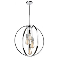 Newport 4 Light 24 inch Chrome Chandelier Ceiling Light