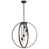 Newport 4 Light 24 inch Oil Rubbed Bronze Chandelier Ceiling Light