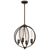 Linden 4 Light 16 inch Bronze Chandelier Ceiling Light