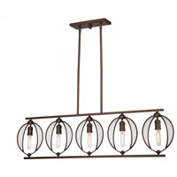 Linden 5 Light 50 inch Oil Rubbed Bronze Island Light Ceiling Light