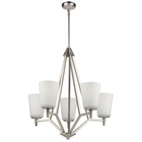 Artcraft AC10915BN Clayton 5 Light 24 inch Brushed Nickel Chandelier Ceiling Light